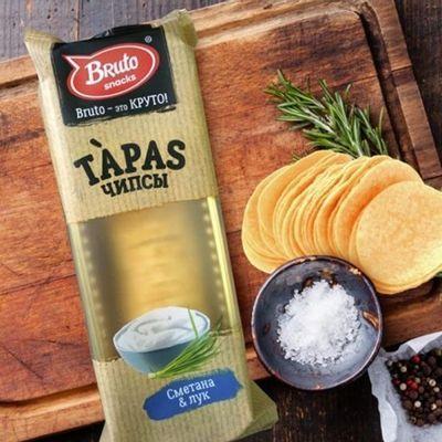 Чипсы Бруто Тапас сметана лук