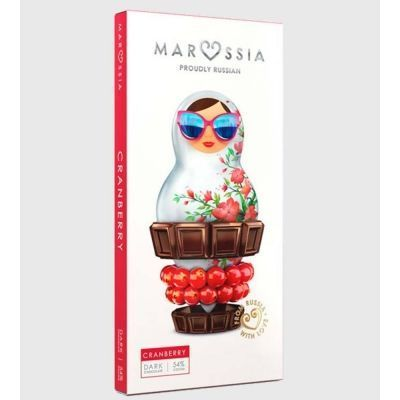 Шоколад темный Marossia 54% с клюквой