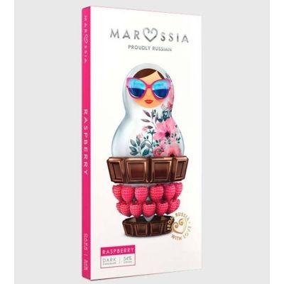 Шоколад темный Marossia 54% с малиной