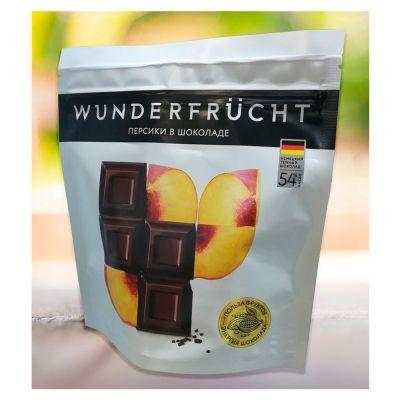 Конфеты Wunderfrucht персик в тёмном шоколаде 54%