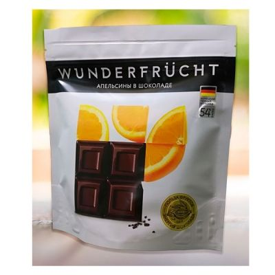 Конфеты Wunderfrucht кумкват в тёмном шоколаде 54%