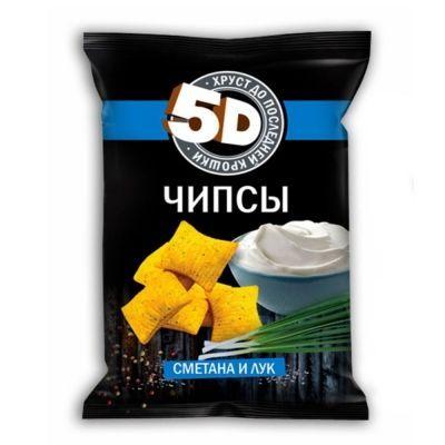 Чипсы пшеничные 5d со вкусом сметаны и лука