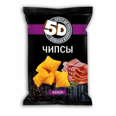Чипсы пшеничные 5d со вкусом бекона
