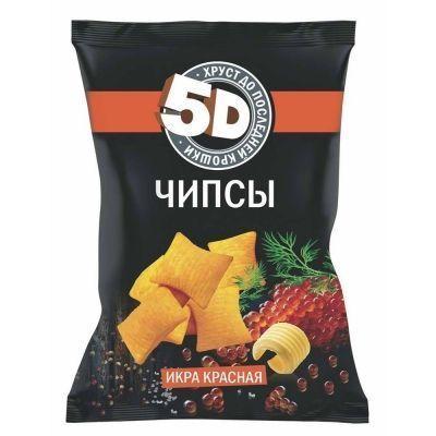 Чипсы пшеничные 5d со вкусом красной икры