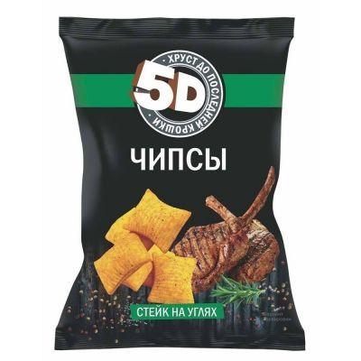 Чипсы пшеничные 5d со вкусом стейк на углях