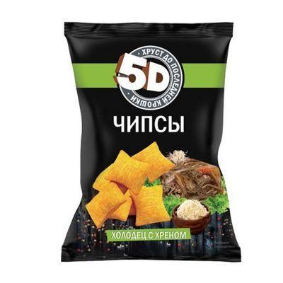 Чипсы пшеничные 5d со вкусом холодец с хреном