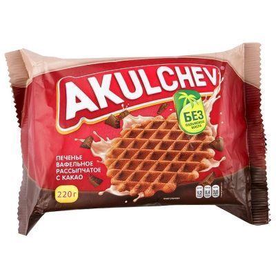 Печенье Акульчев Вафельное с какао рассыпчатое