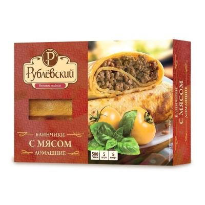 Блинчики Рублевский с мясом замороженные