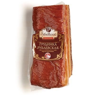 Грудинка Рублевская варено-копченая