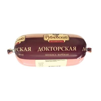 Колбаса Докторская Рублевская вареная высший сорт в ц/о