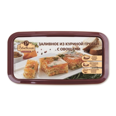 Заливное Рублевский из куриной грудки с овощами вареное охлажденное