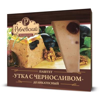 Паштет Рублевский мясной деликатесный Утка с черносливом