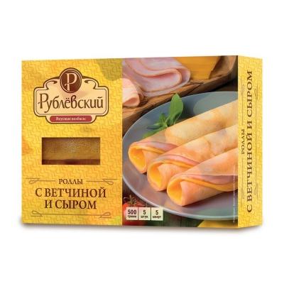 Роллы Рублевский с ветчиной и сыром замороженные
