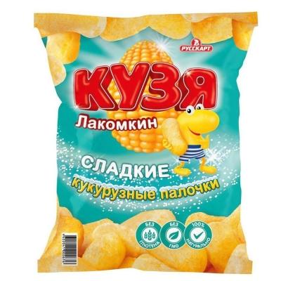 Кукурузные палочки Кузя Лакомкин с сахарной пудрой
