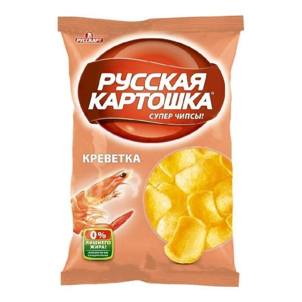 Чипсы Русская картошка Креветка
