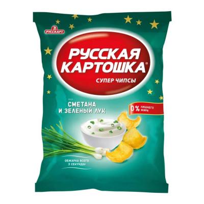 Чипсы Русская картошка Сметана-лук