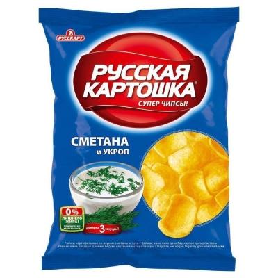 Чипсы Русская картошка Сметана-укроп