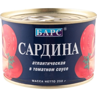Сардина 'Барс' атлантическая в томатном соусе