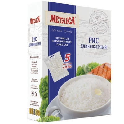 Рис Длиннозерный Метака в варочных пакетах