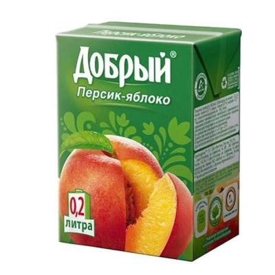 Сок 'Добрый' яблоко и персик