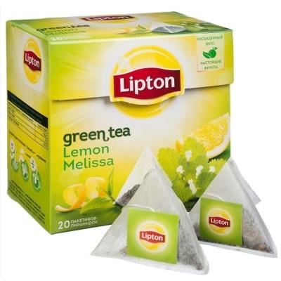 Чай Липтон Lemon Melissa green tea 20 пир.