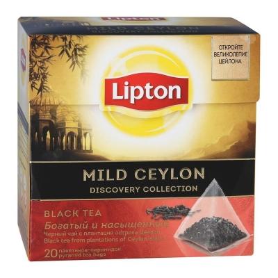 Чай Липтон Mild Ceylon черный 20 пир.