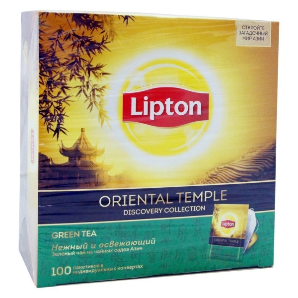 Чай Липтон Oriental Temple зеленый 100 пак.