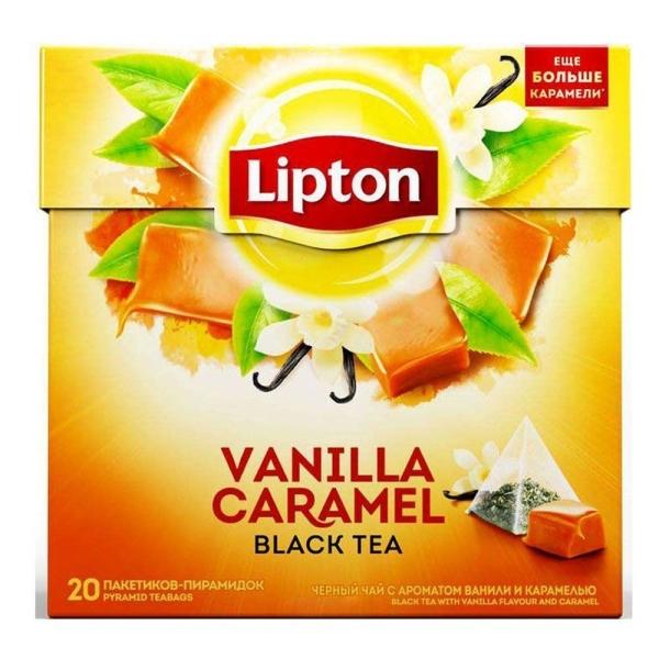 Чай Липтон Vanilla Caramel с карамелью и ванилью 20 пир.