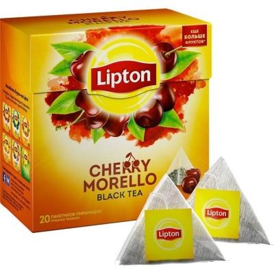 Чай Липтон Сherry Morello с кусочками вишни 20 пир.