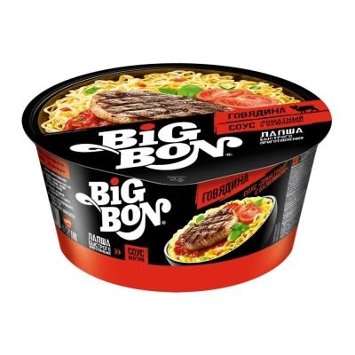 Лапша Big Bon говядина и соус томатный базиликом