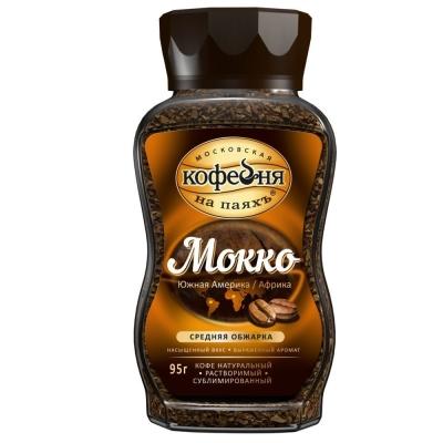 Кофе Московская кофейня на паях Мокко растворимый ст/б