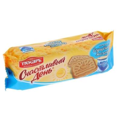 Печенье сахарное Пекарь сгущенное молоко