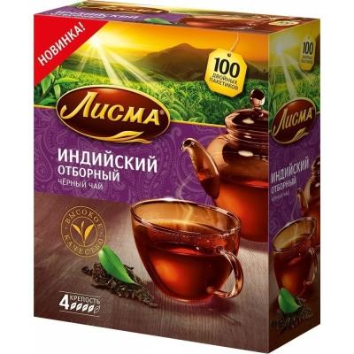 Чай Лисма Индийский Отборный 100 пак.