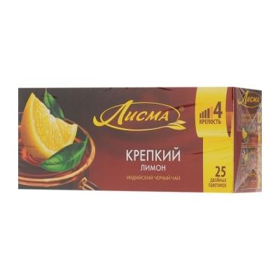 Чай Лисма Крепкий Лимон 25 пак.