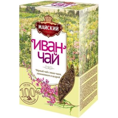 Чайный напиток Майский Иван-чай с черным чаем и лимонником листовой