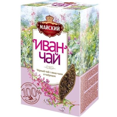 Чайный напиток Майский Иван-чай с черным чаем и чабрецом листовой
