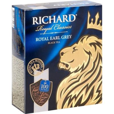 Чай Ричард Роял Эрл Грей 100 пак.