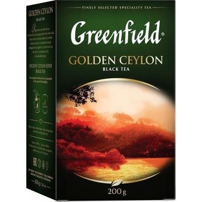 Чай Гринфилд Голден Цейлон черный листовой