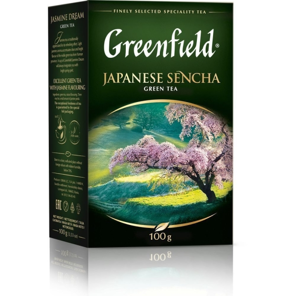 Чай Гринфилд Джапаниз Сенча зеленый листовой