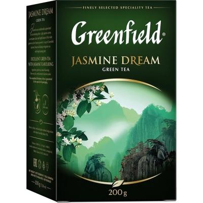 Чай Гринфилд Жасмин Дрим зеленый листовой