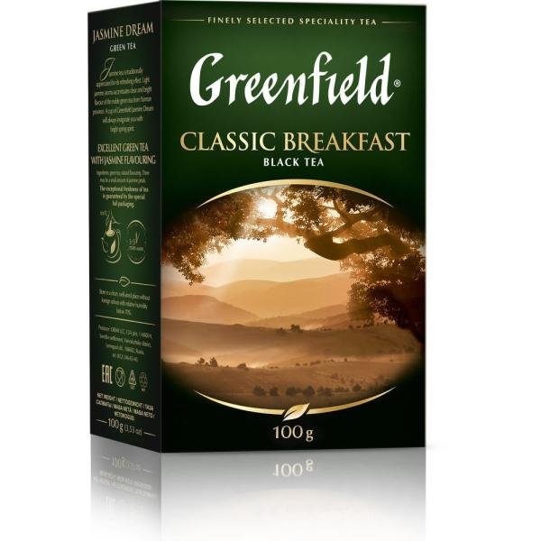 Чай Гринфилд Классик Брекфест черный листовой