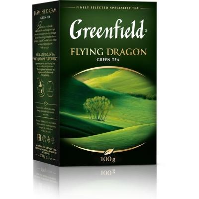 Чай Гринфилд Флаин Дракон зеленый листовой