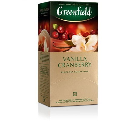 Чай Гринфилд Ванилла Крэнберри 25 пак.