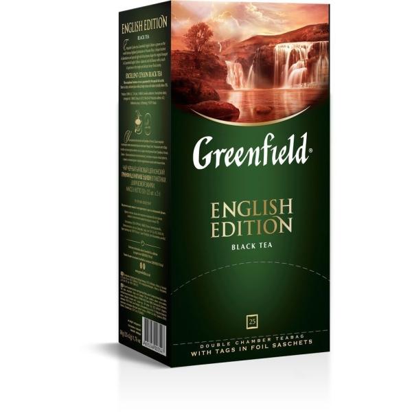 Чай Гринфилд Инглиш Эдишн черный 25 пак.