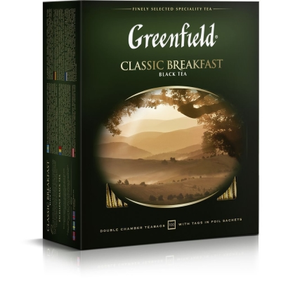 Чай Гринфилд Классик Брекфест черный 100 пак.