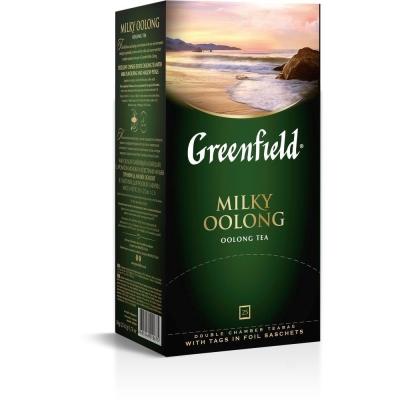 Чай Гринфилд Милки Оолонг зеленый 25 пак.
