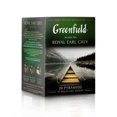 Чай Гринфилд Роял Эрл Грей черный 20 пир.