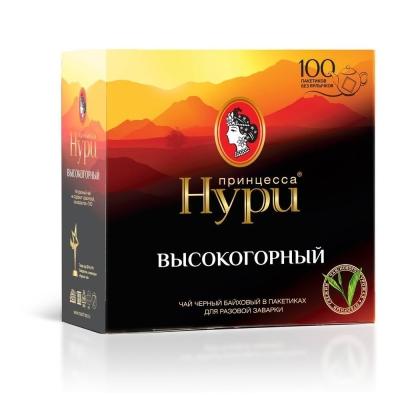 Чай Принцесса Нури высокогорный 100 пак. б/яр