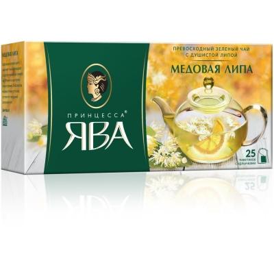 Чай Принцесса Ява Медовая Липа 25 пак. с/яр.