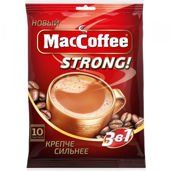 Кофе Мак кофе 3 в 1 стронг